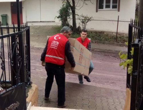 Kocaeli Derince Türkmenistanlı çocukların eğitim gördüğü Kuran Kursuna Beyaz Eşyaları Teslim Edildi