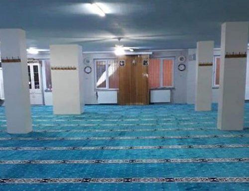 670 m2'lik Yenibosna Bilal Habeşi Caminin ve Kız Kuran Kursunun Halılarını Yeniledik
