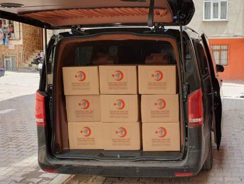 2019 Ramazan çalışmalarımız kapsamında Gıda kolisi dağıtımı yapıldı.